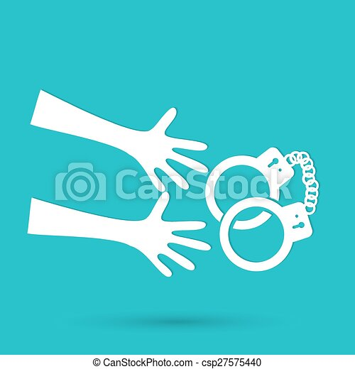 Vector illustration of isolated modern police icon. - csp27575440