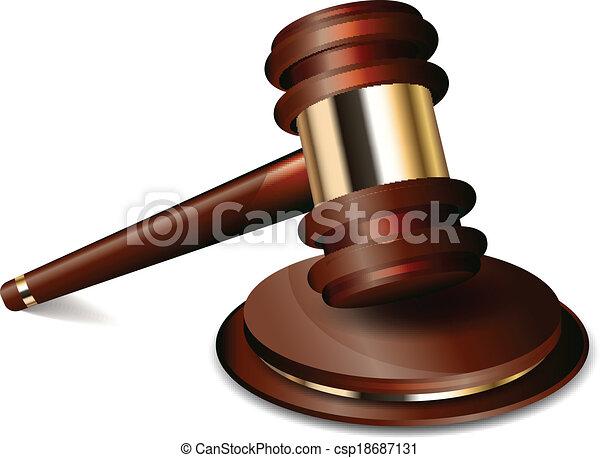 Vector illustration of judge gavel - csp18687131