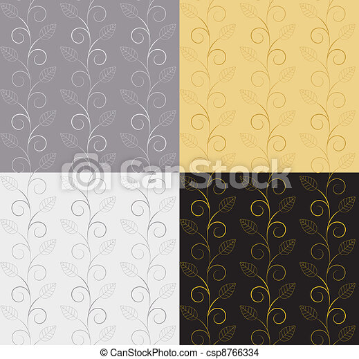 Vector illustration of leaves. (Seamless Pattern) can be used for scrapbooking - csp8766334