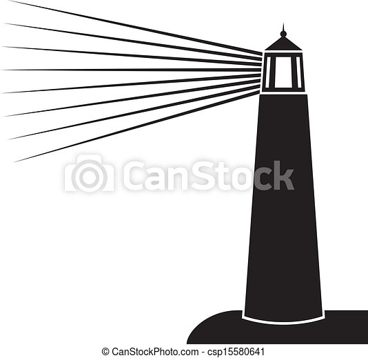 vector illustration of lighthouse  - csp15580641