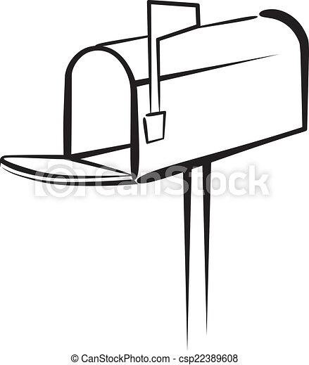 Vector illustration of Mailbox - csp22389608