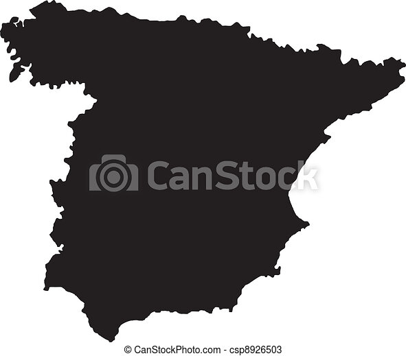 Map Of Spain Vector Free.Vector Illustration Of Maps Of Spain