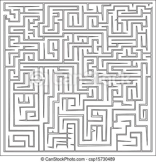 Vector illustration of maze  - csp15730489