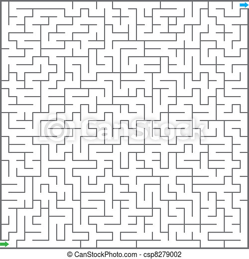 Vector illustration of  maze - csp8279002