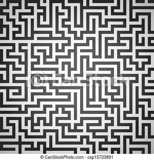 Vector illustration of maze, labyrinth - csp15723891
