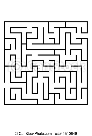 Vector illustration of Maze or Labyrinth. - csp41510649