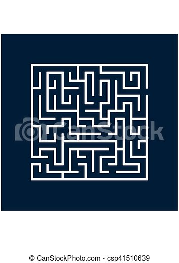 Vector illustration of Maze or Labyrinth. - csp41510639