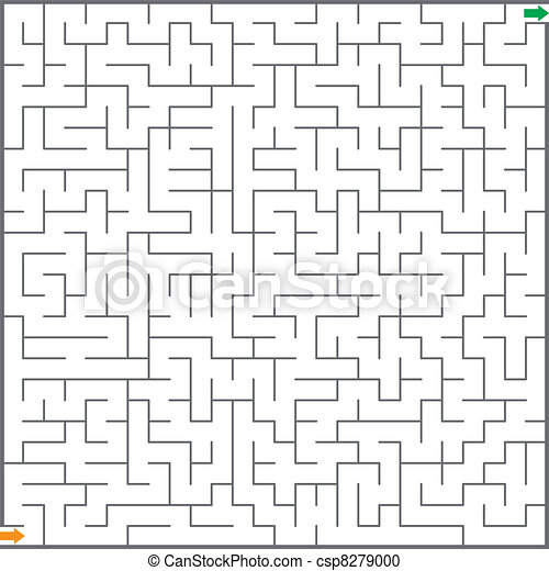 Vector illustration of  maze - csp8279000