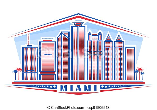 Vector illustration of Miami - csp91806843