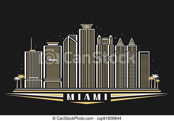 Vector illustration of Miami - csp91806844