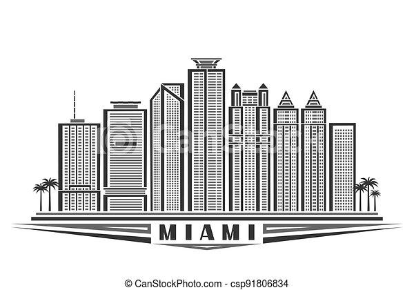 Vector illustration of Miami - csp91806834