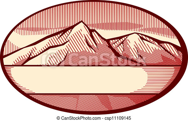 vector illustration of mountain - csp11109145