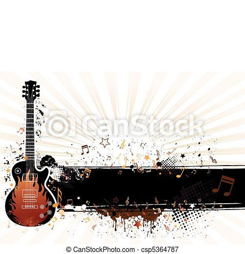 vector illustration of musical them - csp5364787