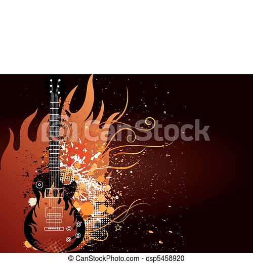 vector illustration of musical them - csp5458920