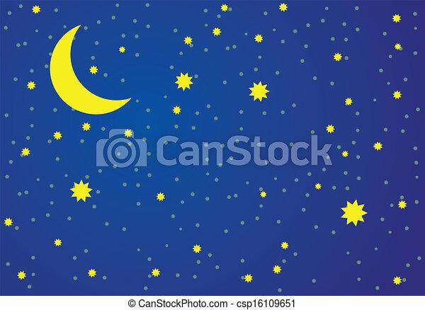 vector illustration of night sky rh canstockphoto com winter night sky clipart cloudy night sky clipart