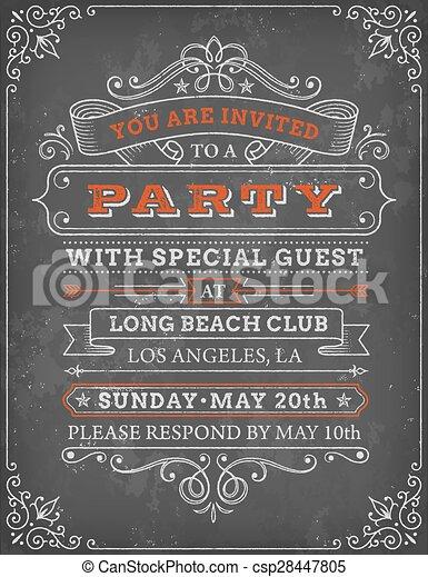 Vector illustration of party invite template a vector illustration vector illustration of party invite template stopboris Gallery