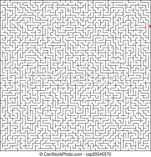 Vector illustration of perfect maze. EPS 8 - csp20545570
