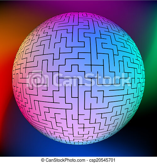 Vector illustration of perfect maze. EPS 8 - csp20545701
