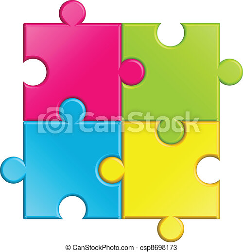 Vector illustration of puzzle - csp8698173
