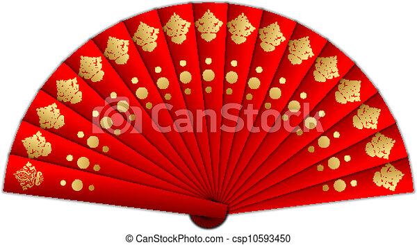 vector illustration of red fan rh canstockphoto com clip art fantastic clipart fanfare