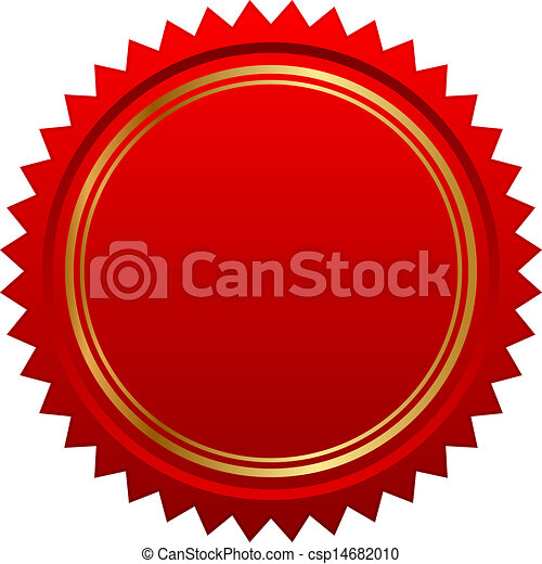 Vector illustration of red seal - csp14682010