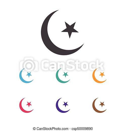 Vector Illustration Of Religion Symbol On Islam Icon Premium