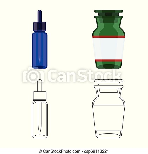 Vector illustration of retail and healthcare logo. Set of retail and wellness vector icon for stock. - csp69113221