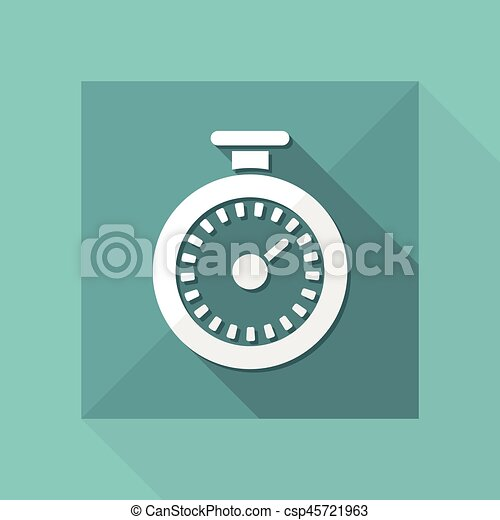 Vector illustration of single isolated timer icon - csp45721963