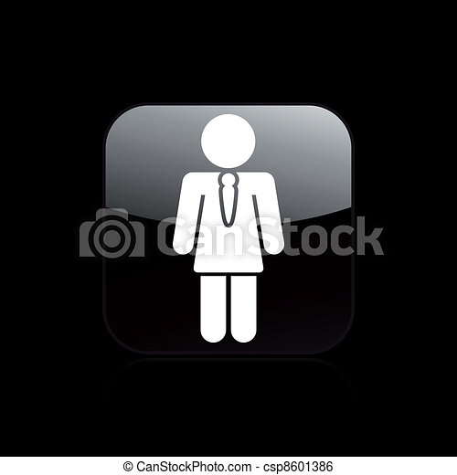 Vector illustration of single isolated girl icon - csp8601386