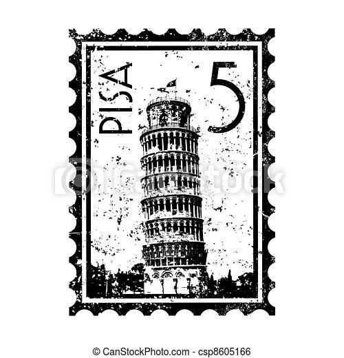 Vector illustration of single isolated Pisa icon - csp8605166