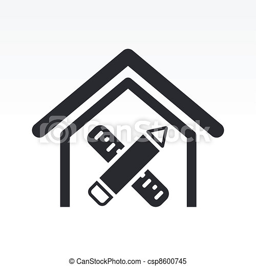 Vector illustration of single isolated interior design icon clipart