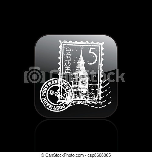 Vector illustration of single isolated England icon - csp8608005