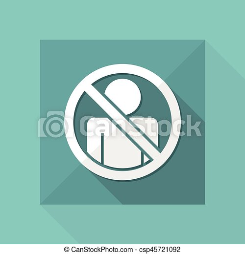 """Vector illustration of single isolated icon depicting """"access forbidden concept"""" - csp45721092"""
