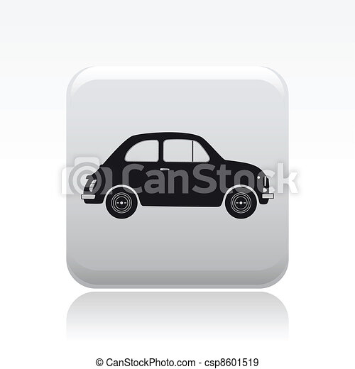 Vector illustration of single isolated car icon - csp8601519