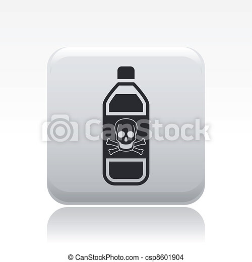 Vector illustration of single isolated dangerous bottle icon - csp8601904