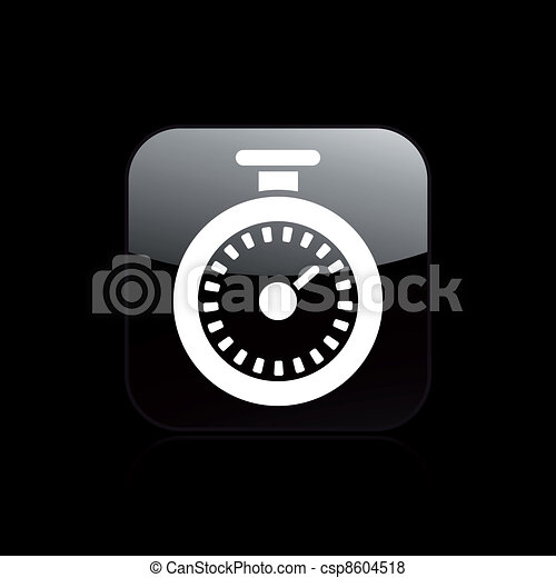 Vector illustration of single isolated timer icon  - csp8604518