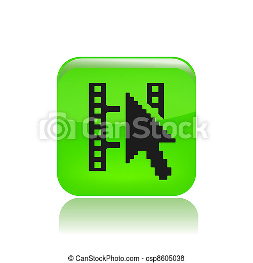 Vector illustration of single isolated film streaming icon - csp8605038