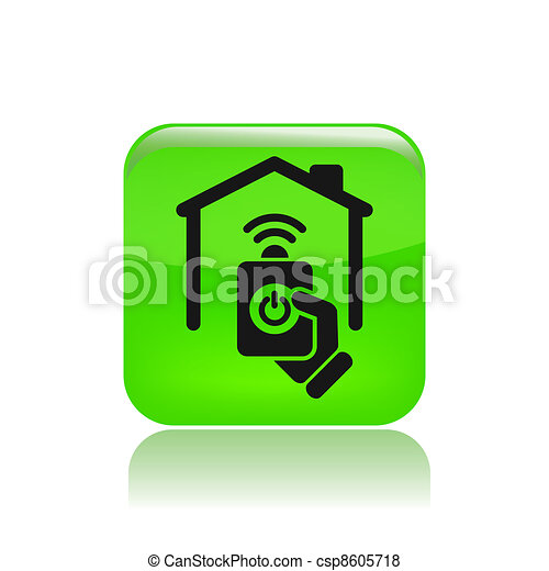 Vector illustration of single isolated remote icon - csp8605718