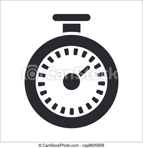 Vector illustration of single isolated timer icon - csp8605908