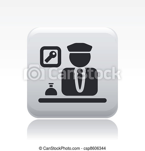 Vector illustration of single isolated reception icon - csp8606344
