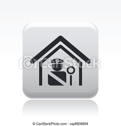Vector illustration of single isolated police station icon - csp8606694