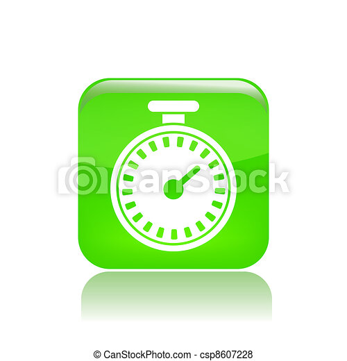 Vector illustration of single isolated timer icon - csp8607228