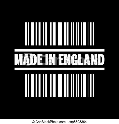 Vector illustration of single isolated made in England icon - csp8608364