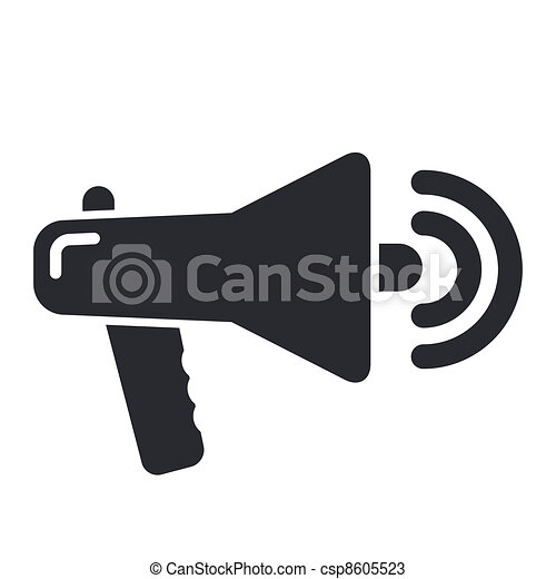 Vector illustration of single isolated megaphone icon - csp8605523