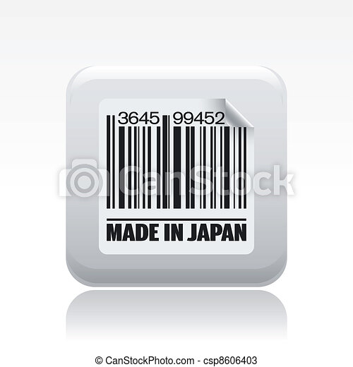 Vector illustration of single isolated Japan icon - csp8606403