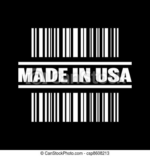 Vector illustration of single isolated made in USA icon - csp8608213