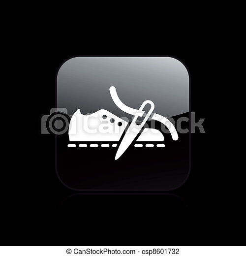 Vector illustration of single isolated shoe production icon - csp8601732