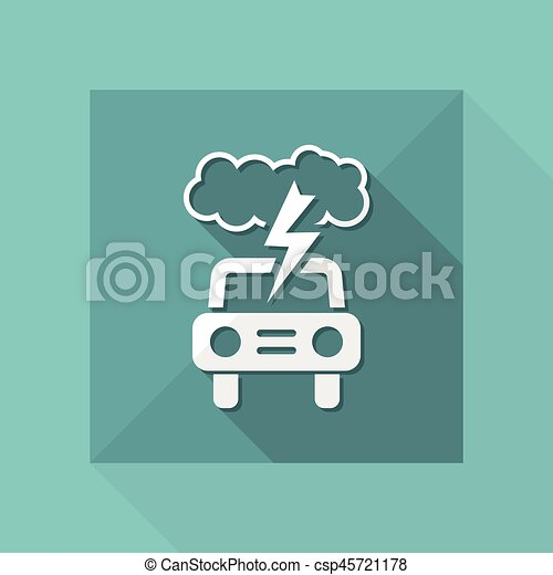 Vector illustration of single isolated car icon - csp45721178