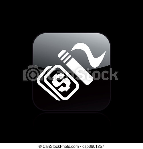 Vector illustration of single isolated smoke pay icon - csp8601257