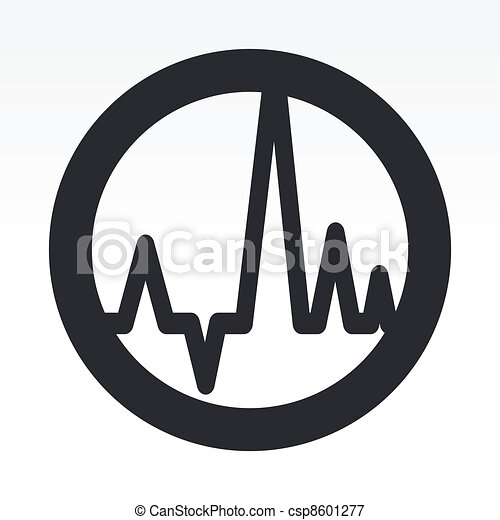 Vector illustration of single isolated audio wave icon - csp8601277
